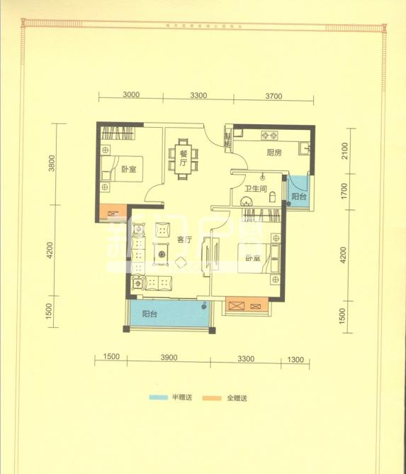 吉立浅水湾  2室2厅1卫    57.0万